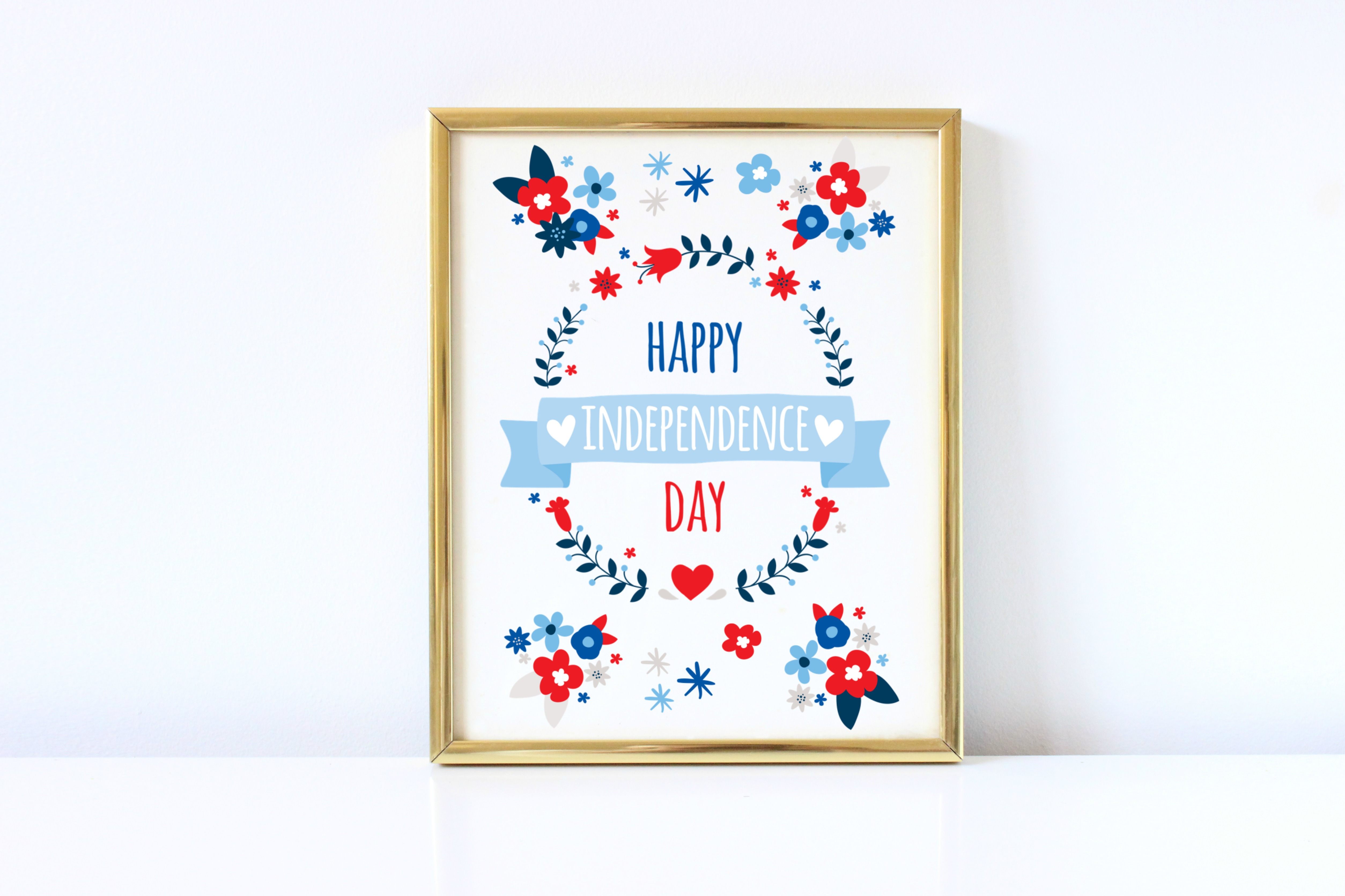 Free Wall Printables Free July 4th Wall Printable Happy Independence Day Abbi