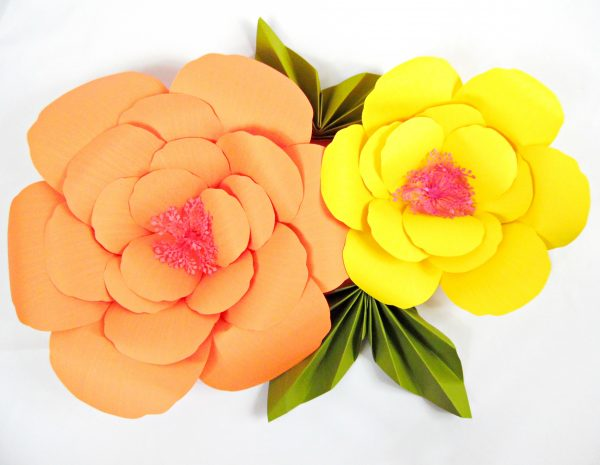 Giant Paper Flower Tutorials Diy Large Hibiscus Flowers
