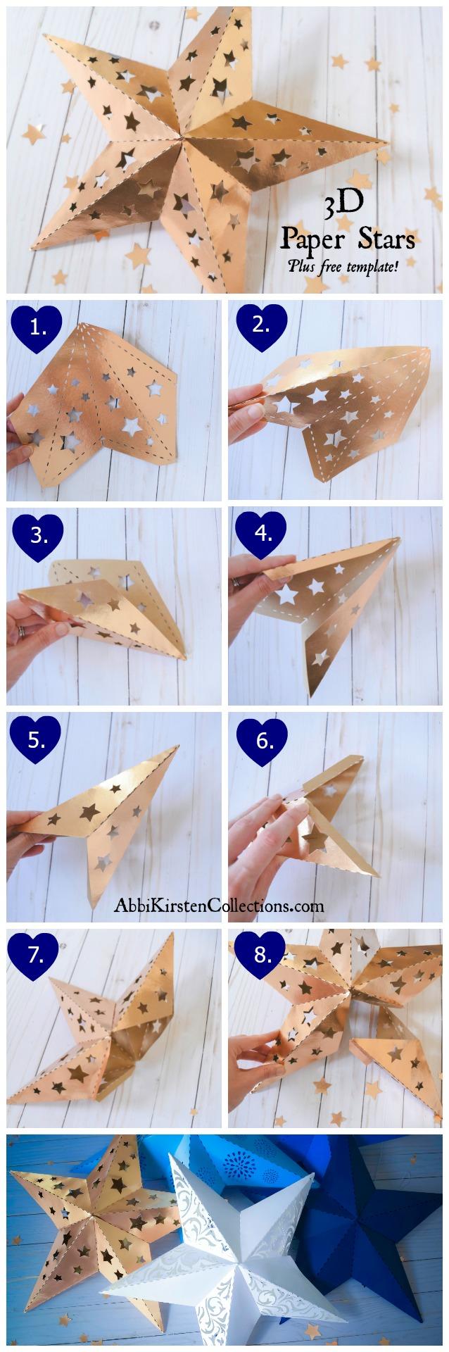 3d paper star template eliolera com