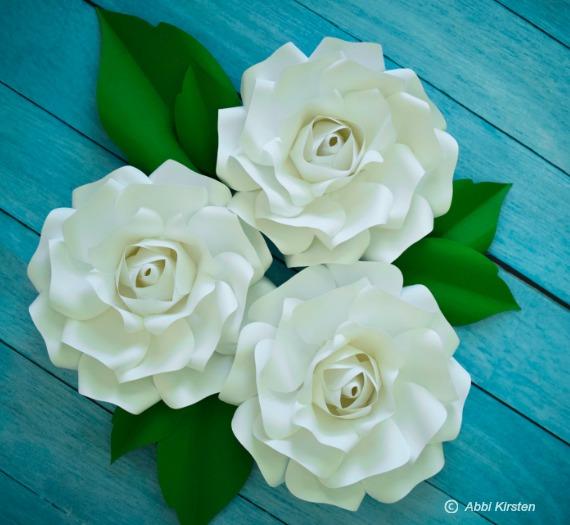 paper rose flowers