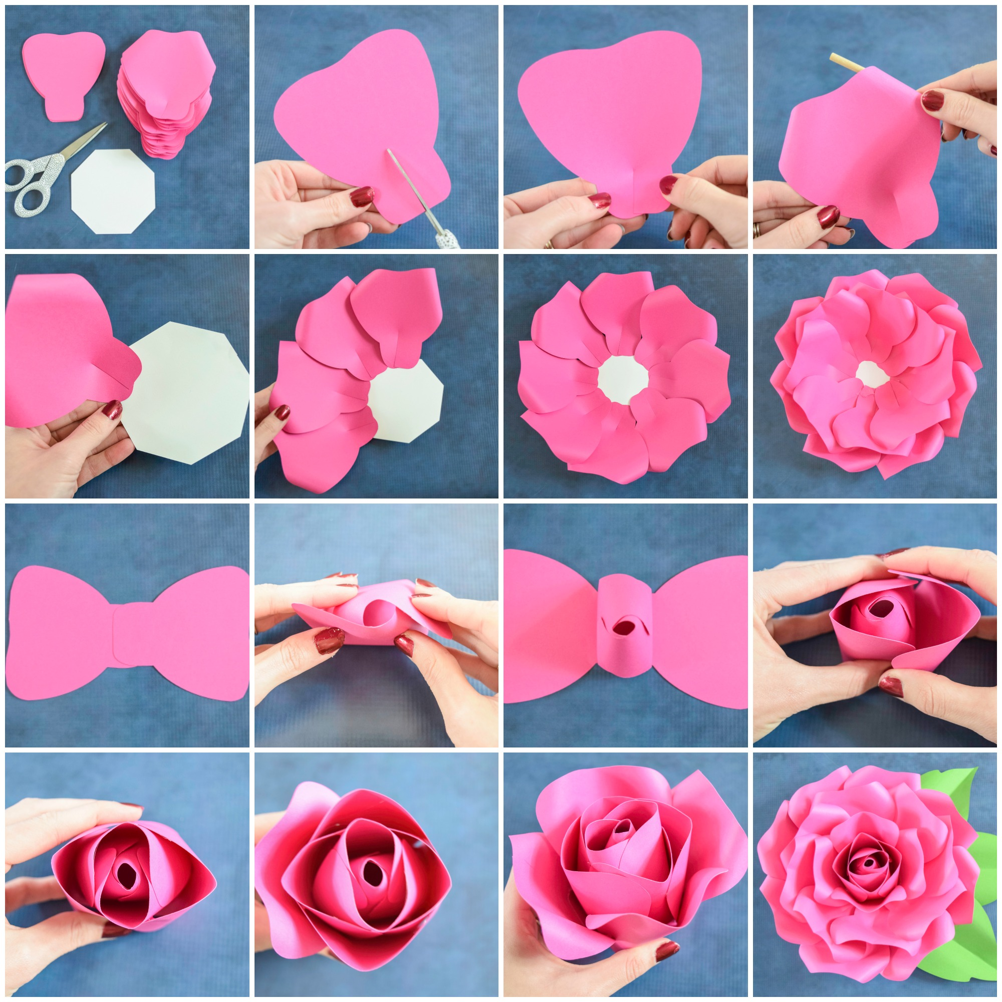 Giant Paper Flowers How To Make Paper Garden Roses With Step By Step