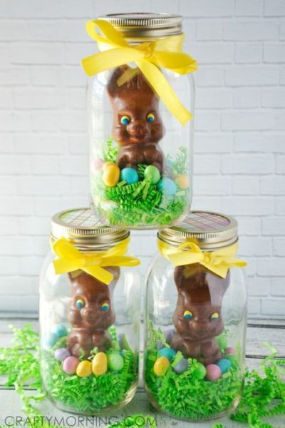 The Best 15 Spring Easter Decorations for 2018 - Chocolate Bunny Easter Decor & Gift